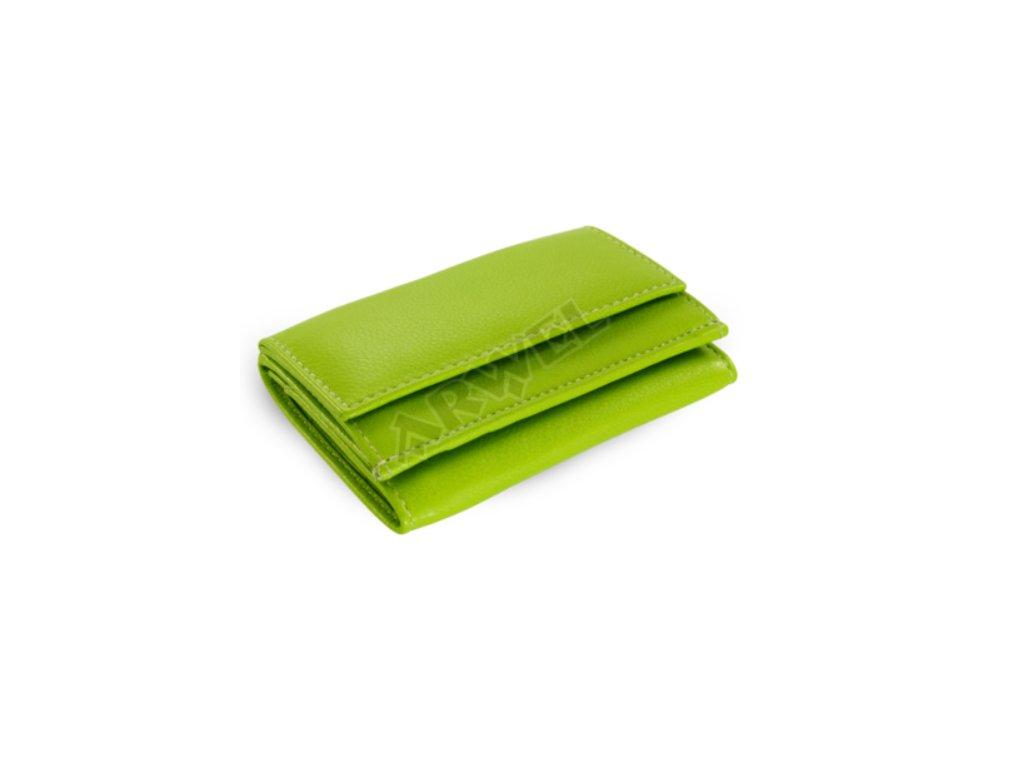 00cf0a9b23 Kožená mini peněženka - zelená - Elegancedoruky.cz