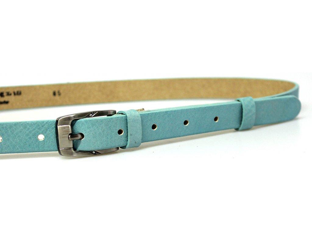 Světle modrý úzký dámský opasek - Penny Belts