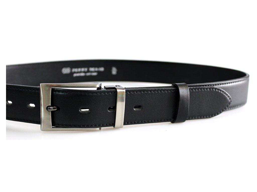 Společenský černý kožený opasek - Penny Belts