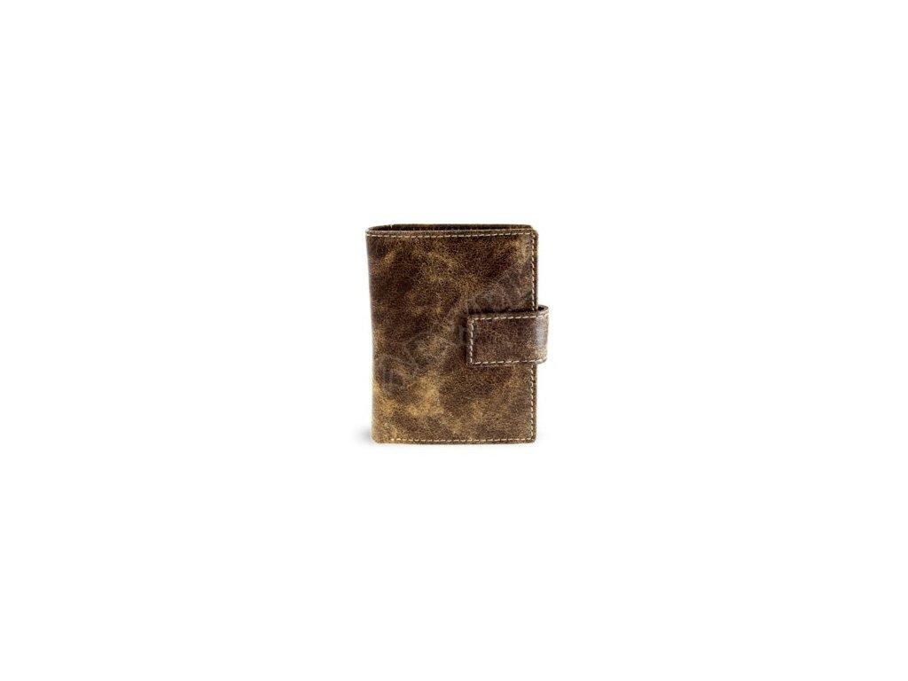 Kožené pouzdro na vizitky Arwel, - hnědé
