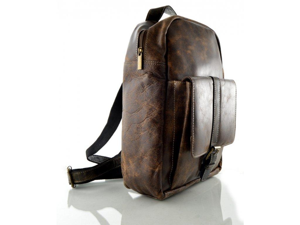 Kožený batoh Arwel - hnědý rustik