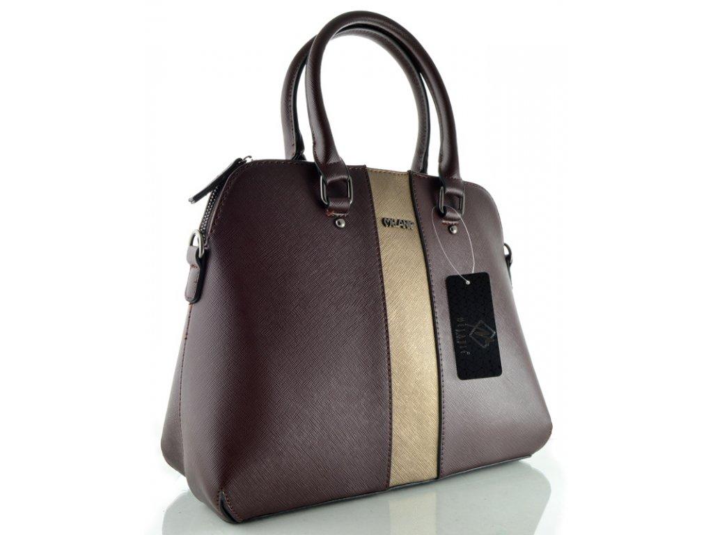 Koženková kabelka Melanie - hnědá-bronz
