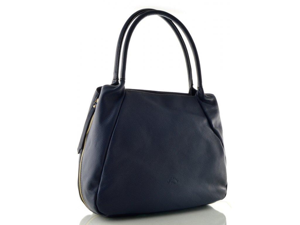 Velká kožená kabelka Katana - modrá