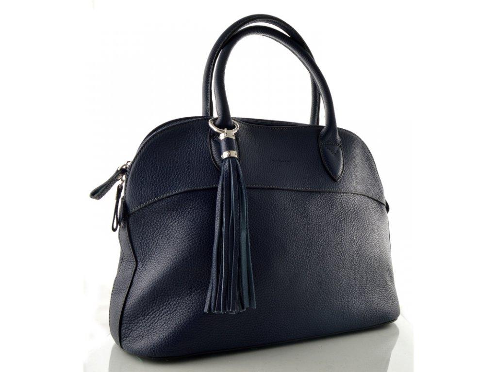 Kožená kabelka do ruky Katana - tmavě modrá - Elegancedoruky.cz 2264840f535