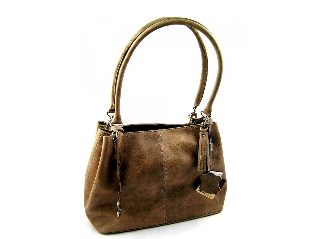 Kožená kabelka Silvercase - oříškové barvy