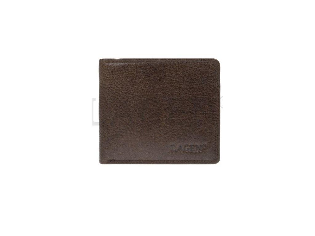 Menší hnědá pánská kožená peněženka - RFID Save