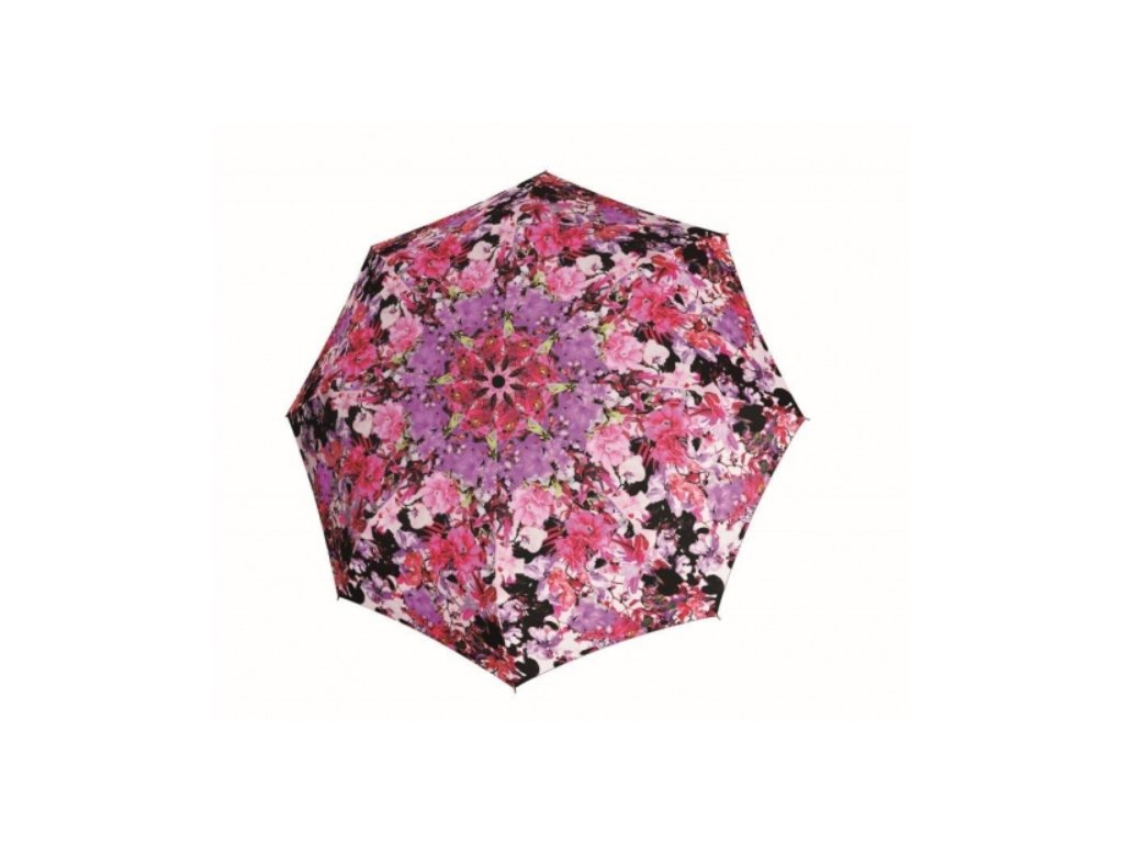 Barevný deštník Carbon Automatic Doppler - růžové květy