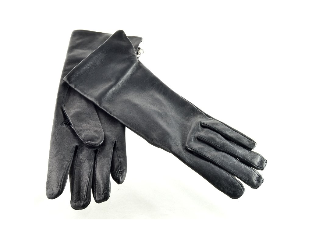 Dlouhé dámské kožené rukavice - černé - Elegancedoruky.cz c34e0aaa65