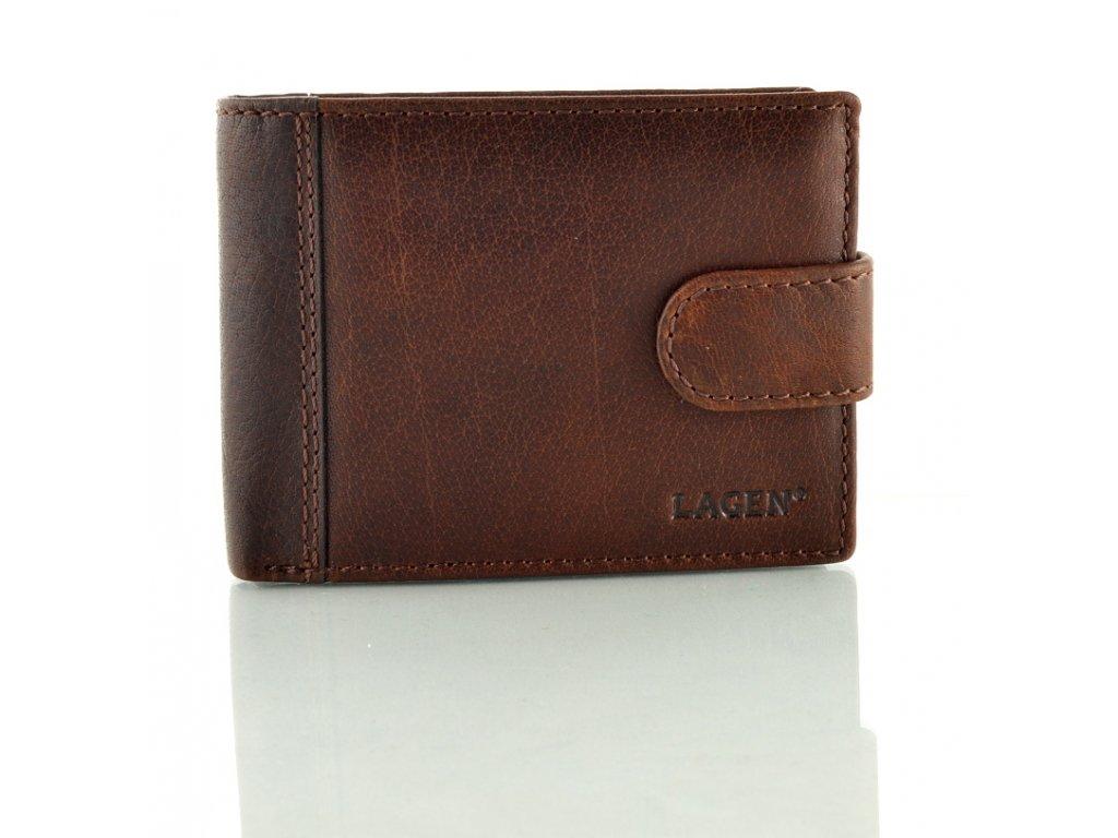 Pánská peněženka Lagen s přezkou - hnědá