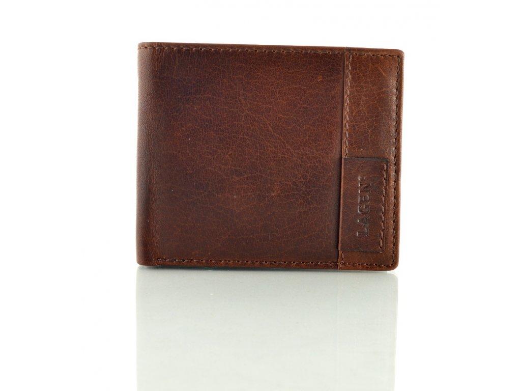 Luxusní pánská peněženka Lagen - hnědá