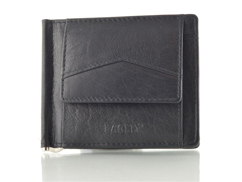 Černá kožená dolarovka Lagen