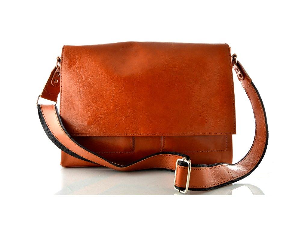 Klopnová taška přes remeno Silvercase - oranžová