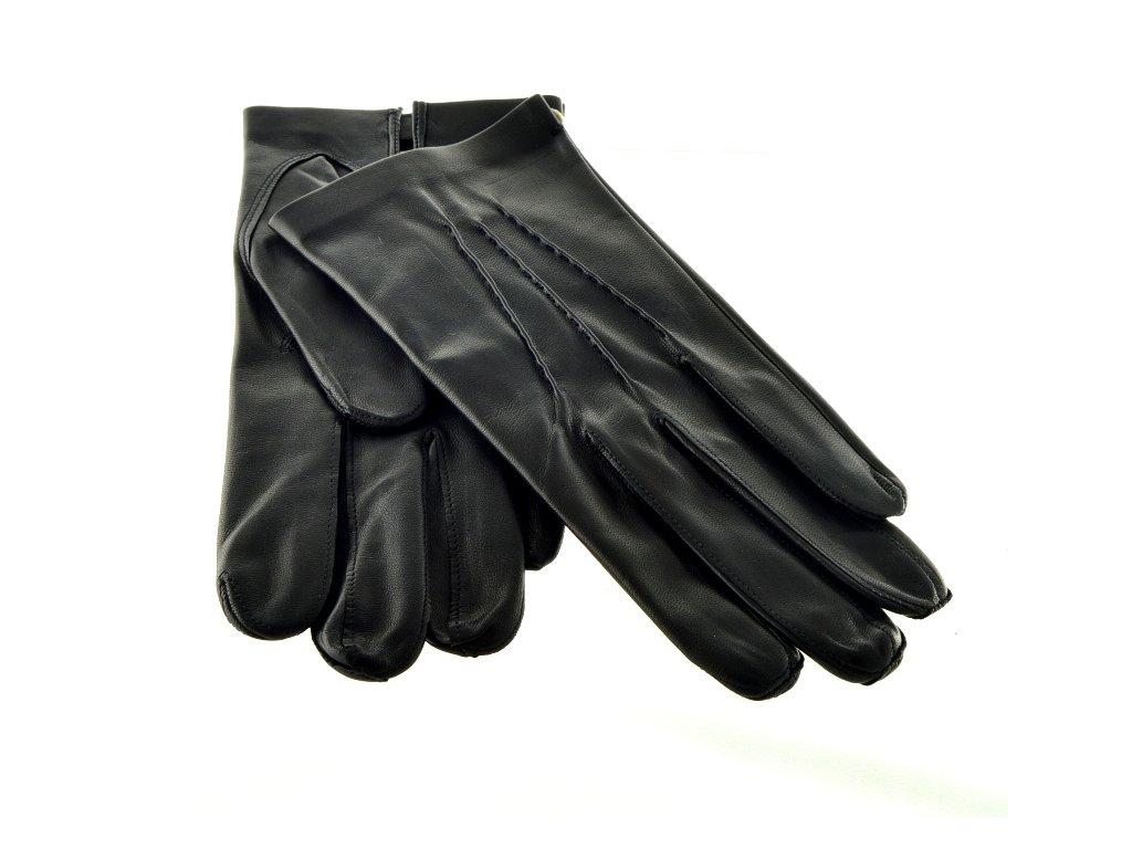 Černé pánské kožené rukavice bez podšívky - Elegancedoruky.cz 027242fc97