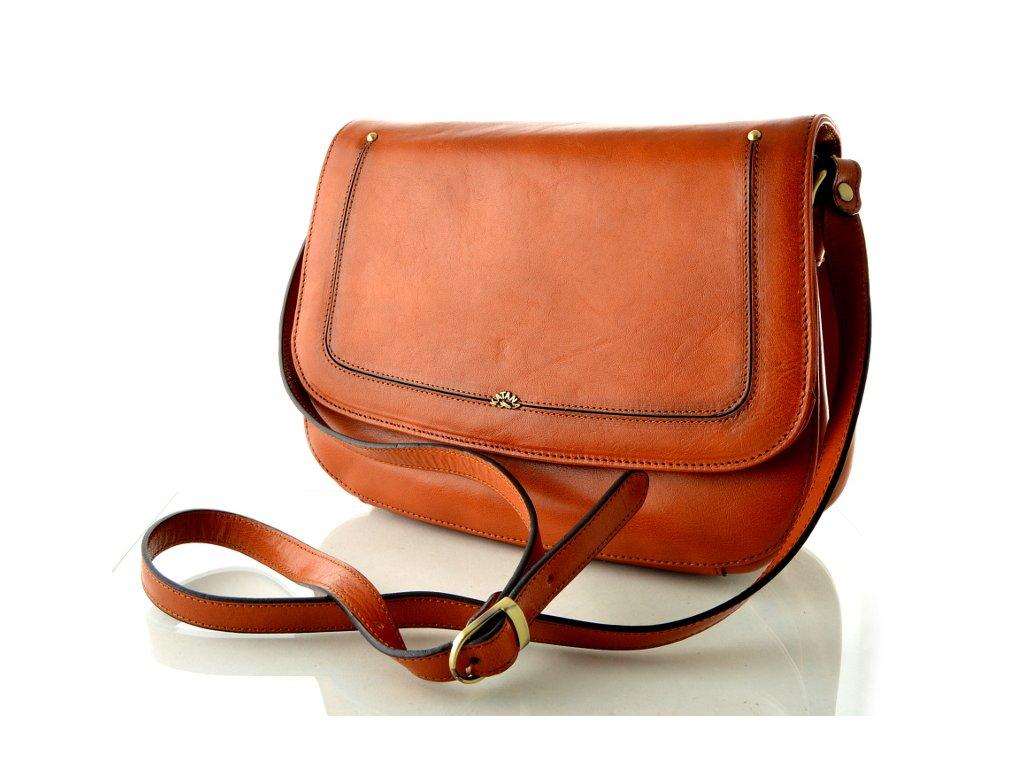 Klopnová kabelka Katana - oranžová