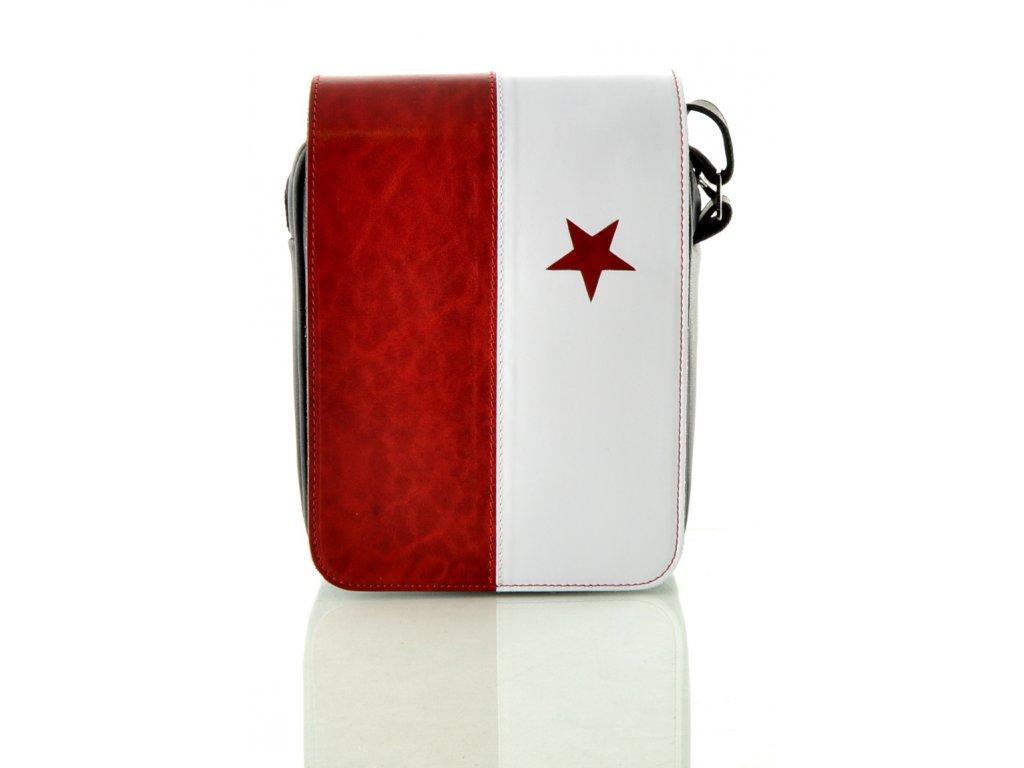 Kožená taška přes rameno Hajn - Slavia