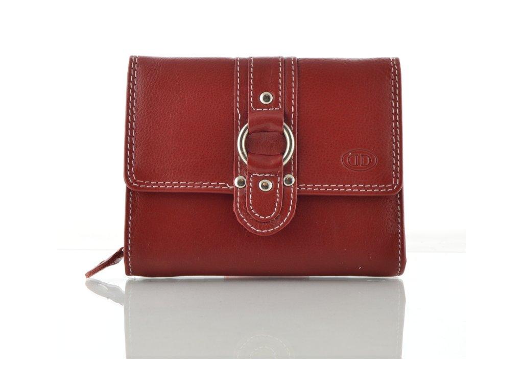 Kožená peněženka DD - vínová