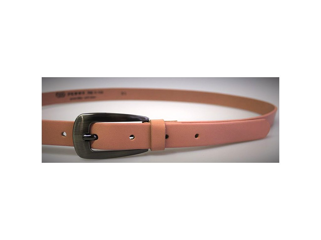 Růžový úzký dámský opasek - Penny Belts