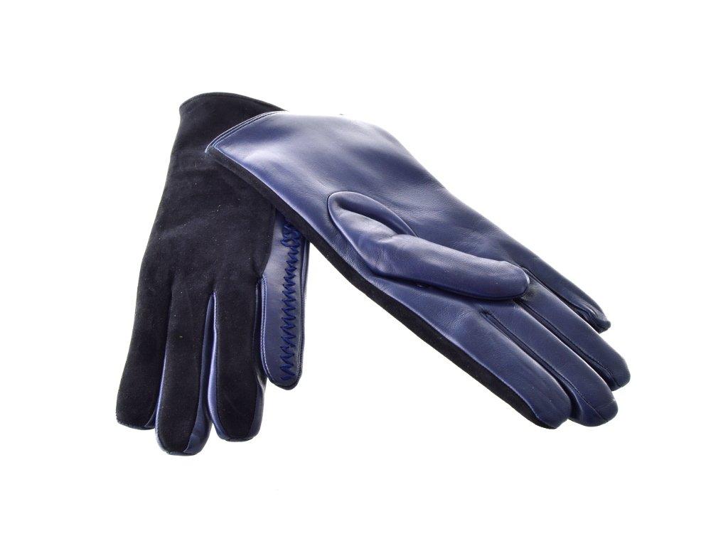 264c4501a4c Černo-modré dámské kožené rukavice - Elegancedoruky.cz