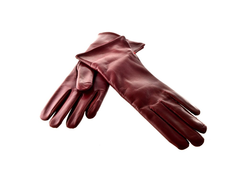 Dámské kožené rukavice - bordo - Elegancedoruky.cz d8941bfd17