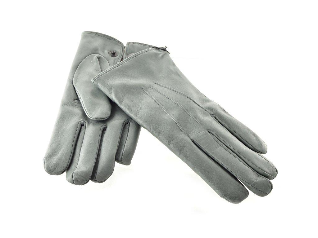 Pánské kožené rukavice šedé barvy s podšívkou - Elegancedoruky.cz 5541623cc7