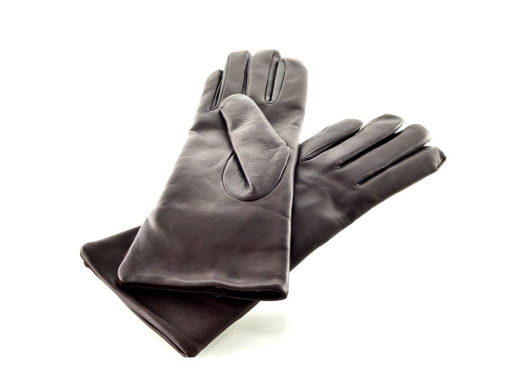 Dámské kožené rukavice - tmavě hnědé - Elegancedoruky.cz f4566f5e21