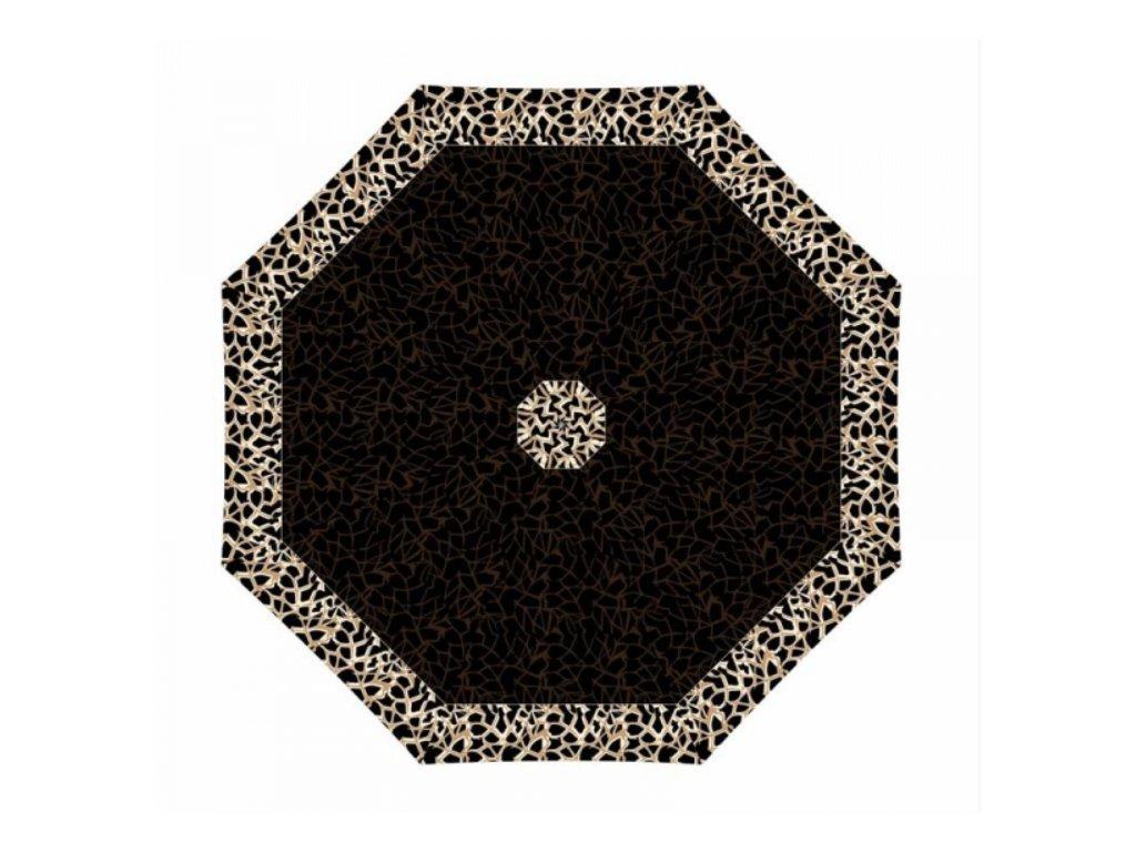 Dámský deštník Doppler Magic fiber Graphic - hnědo černý