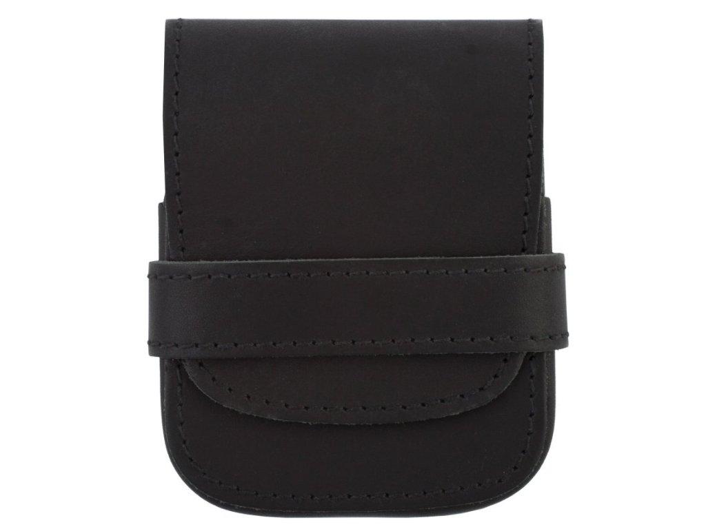 Kvalitní kožená pánská manikúra DUP - černá