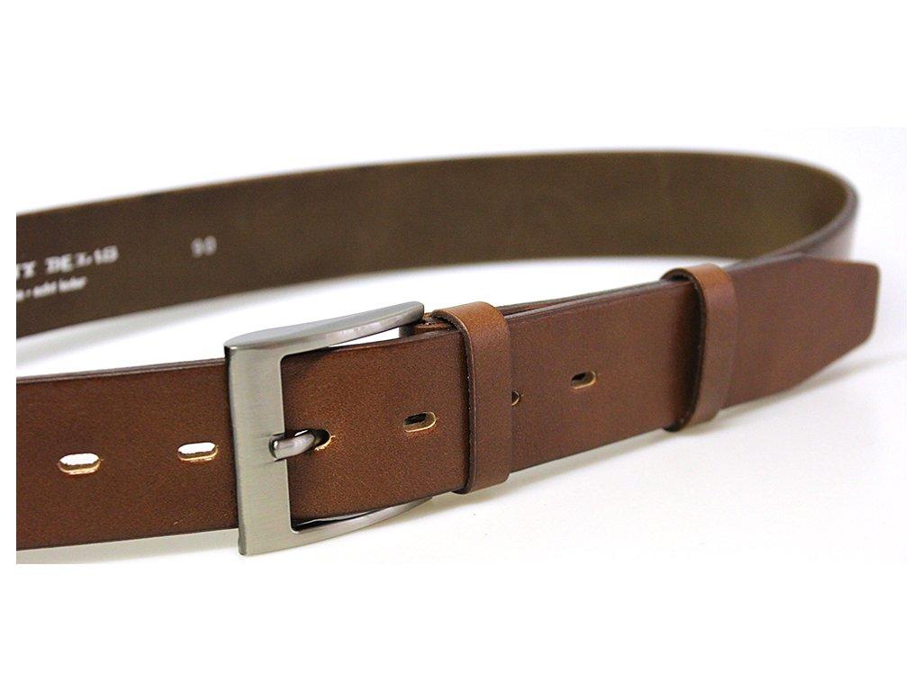 Hnědý pánský kožený opasek Penny Belts