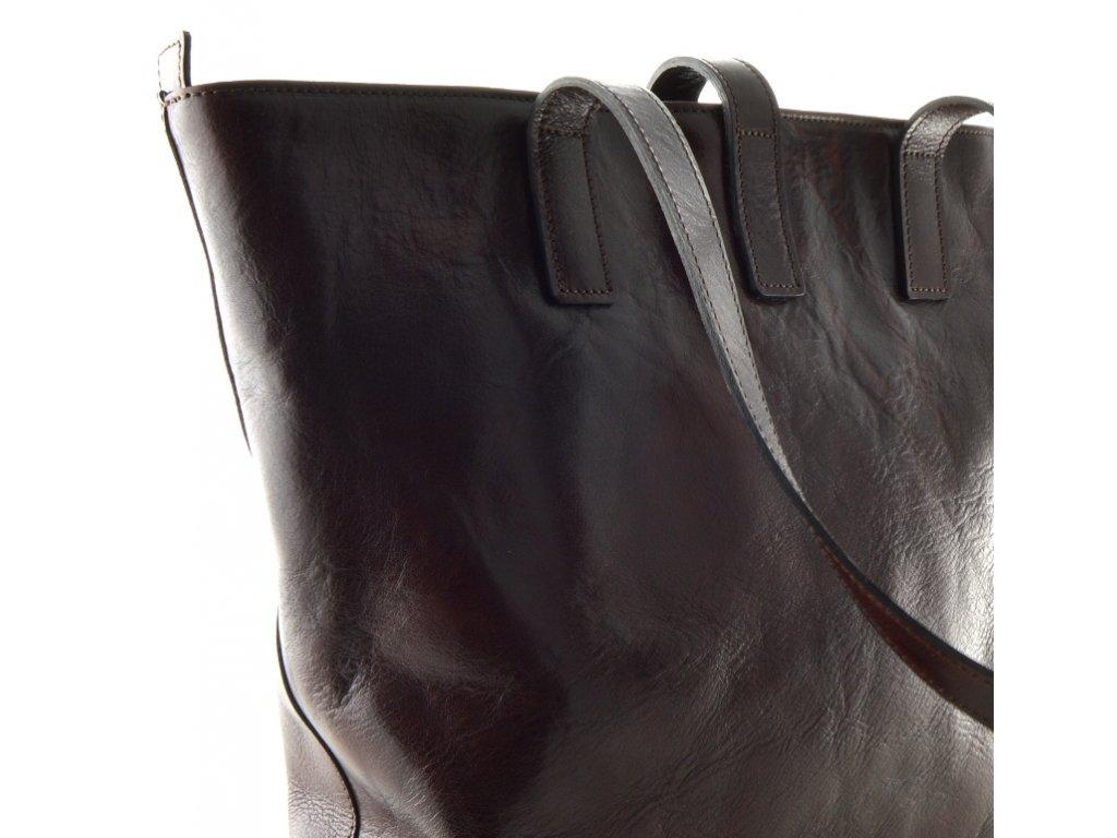 Velká kožená kabelka Silvercase - tmavě hnědá - Elegancedoruky.cz aa5a92ccbe1