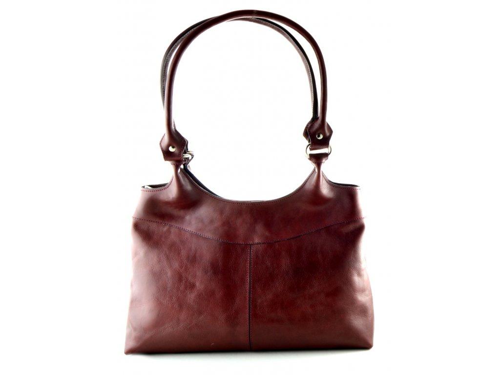 Kožená kabelka Silvercase - rubínová