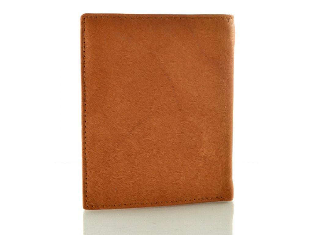4ab8190b671 Světle hnědá pánská kožená peněženka na výšku - Elegancedoruky.cz