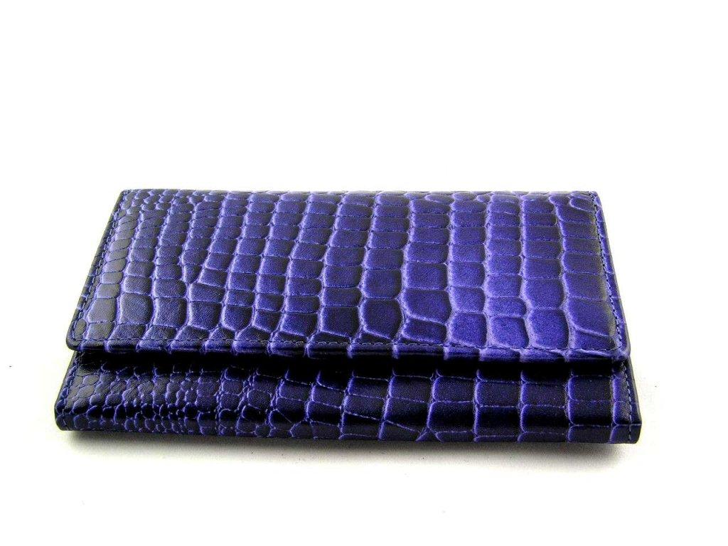 Kroko dámská peněženka Lagen - modro-fialová