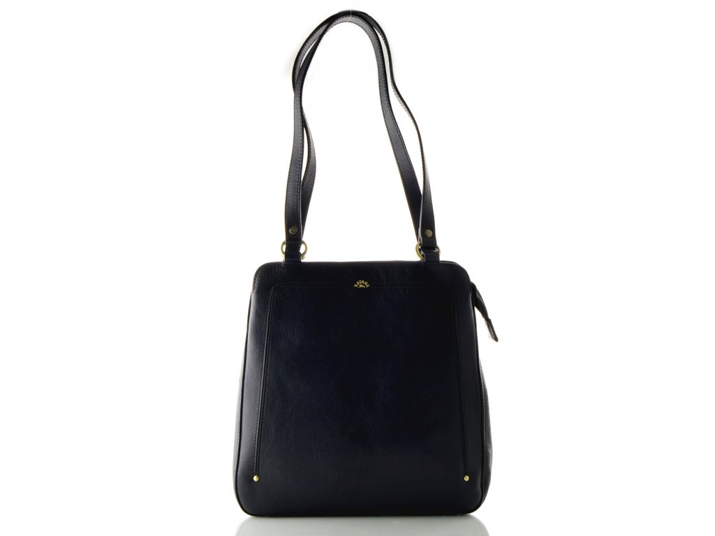 Kožený kabelko-batůžek Katana - tmavě modrý