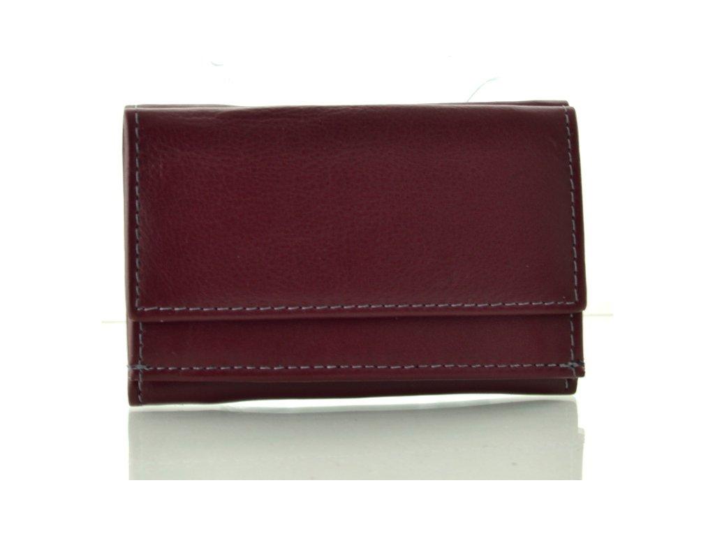 Kožená mini peněženka - rubín