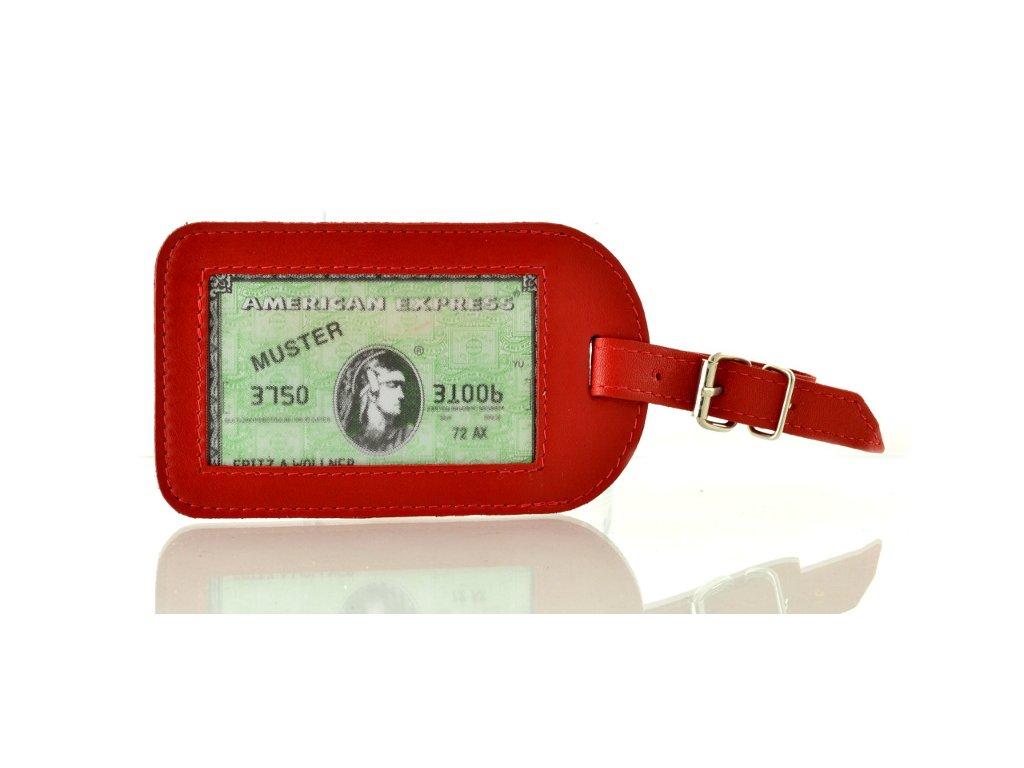 Jmenovka na cestovní zavazadlo - červená