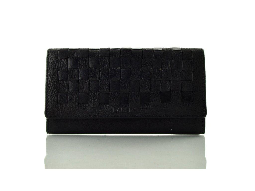 Černá dámská rámová kožená peněženka
