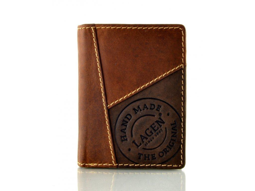 Moderní kožená peněženka s patinou
