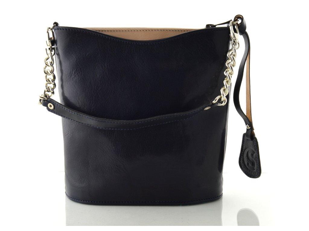 Malá elegantní kabelka Silvercase - modro béžová