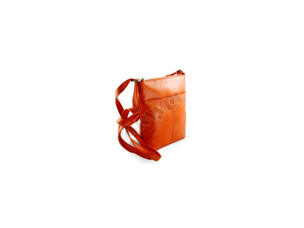 Kožená taštička Arwel - oranžová