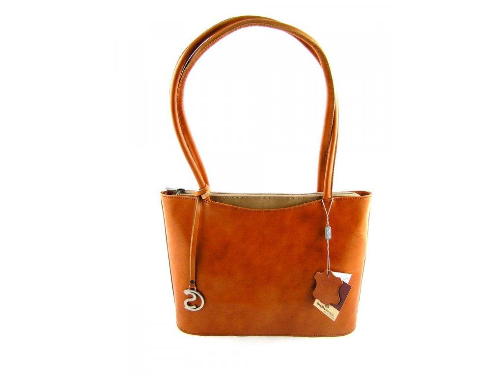 Elegantní kožená kabelka Silvercase - oranžová