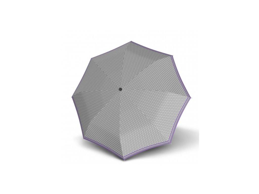 Dámský holový deštník - šedý hvězdičky