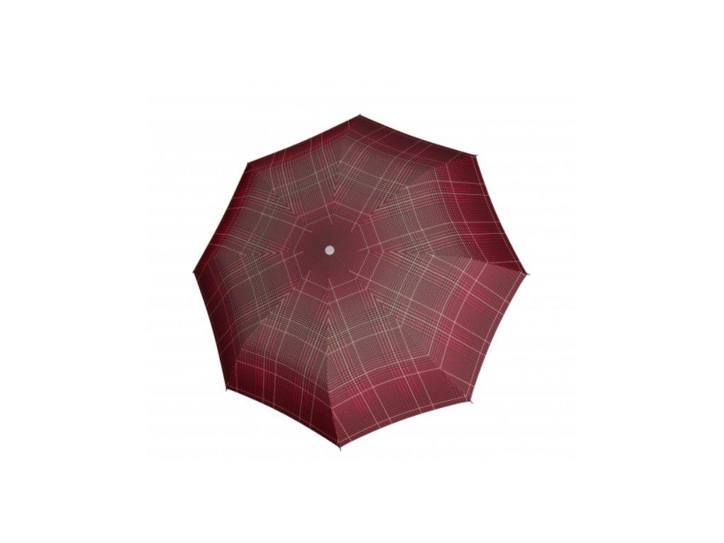 Deštník Fiber Havanna odlehčený - červené káro