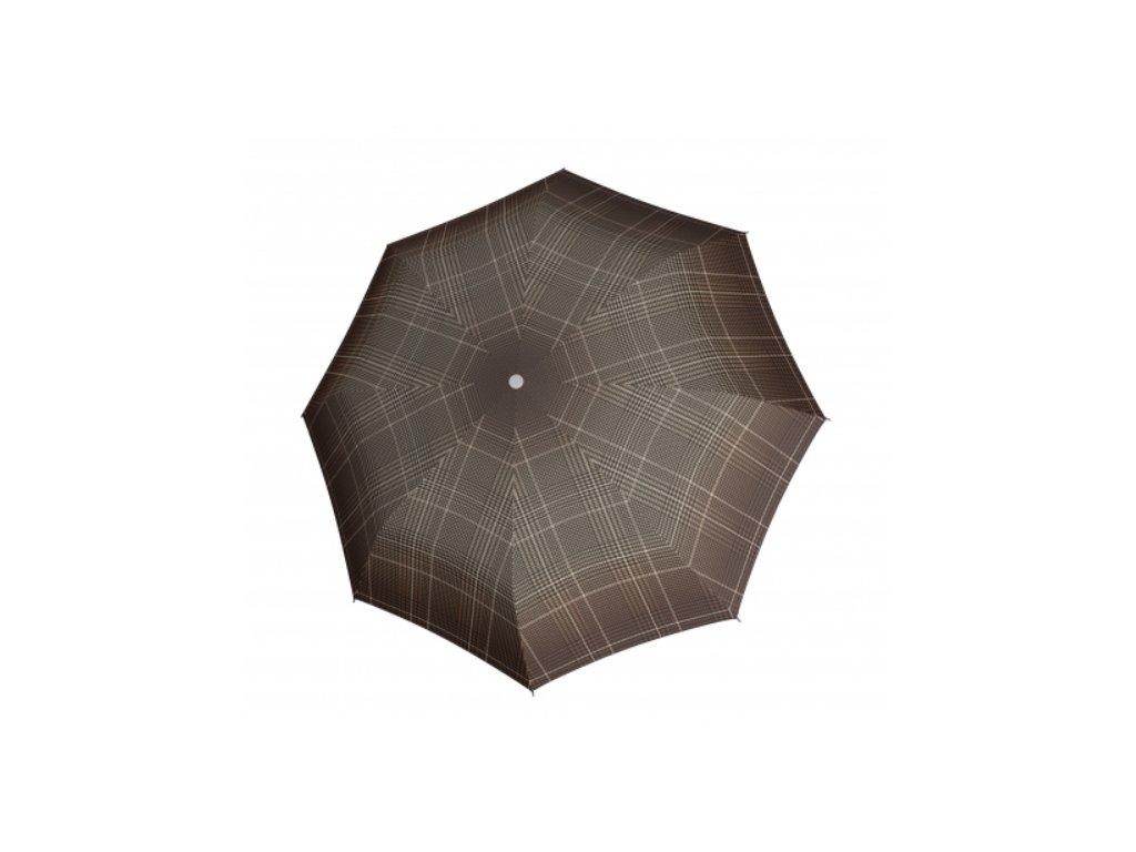 Deštník Fiber Havanna odlehčený - hnědé káro