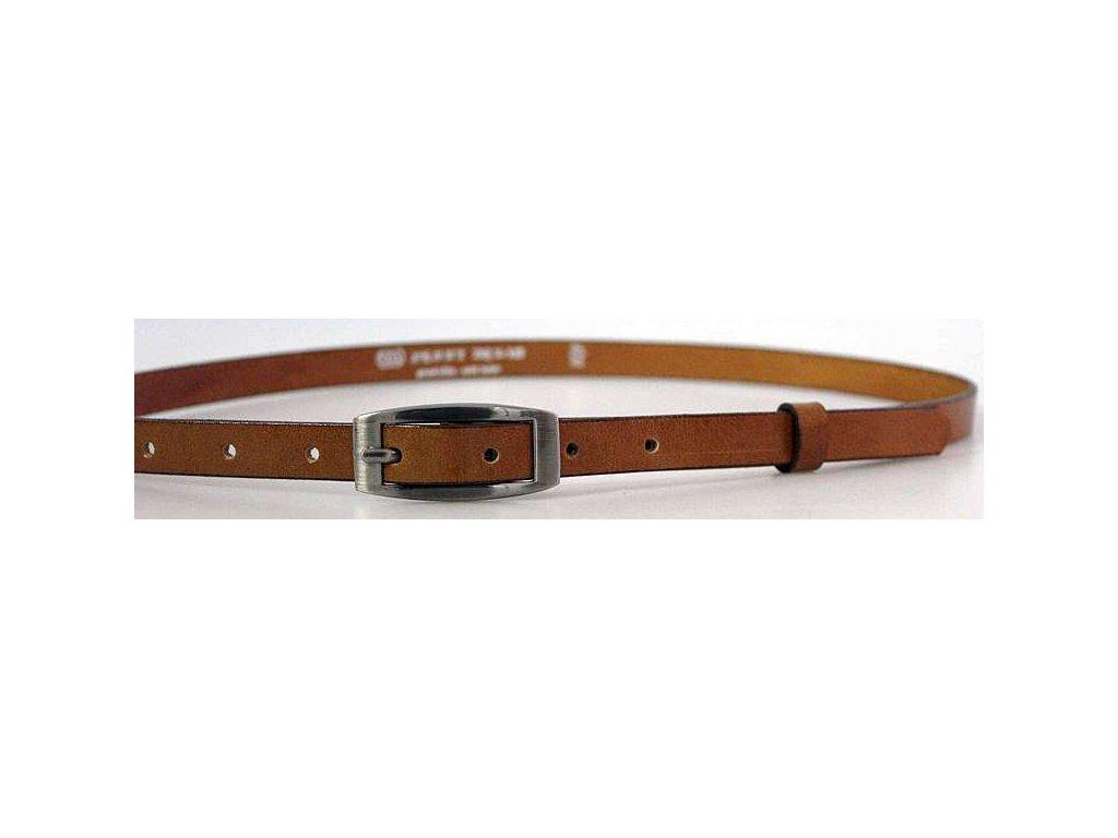 Hnědý úzký dámský opasek - Penny Belts
