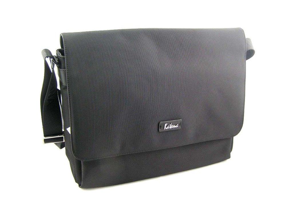 Textilní klopnová taška přes remeno Katana - černá