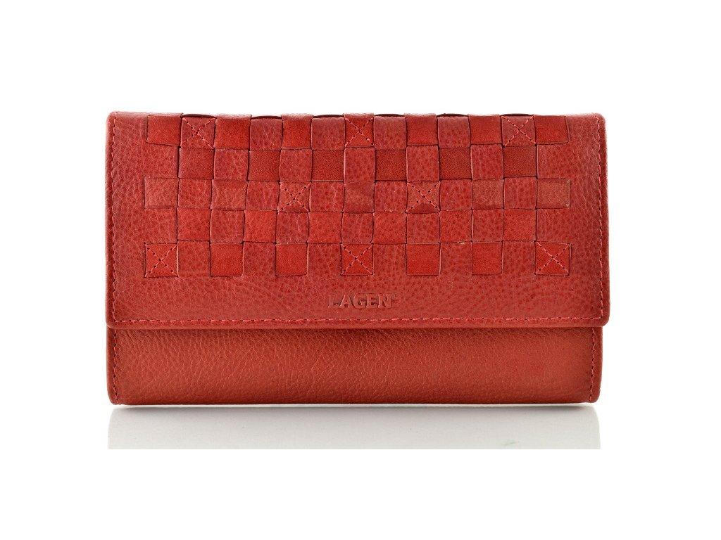 Tmavě červená kožená peněženka s kostičkou
