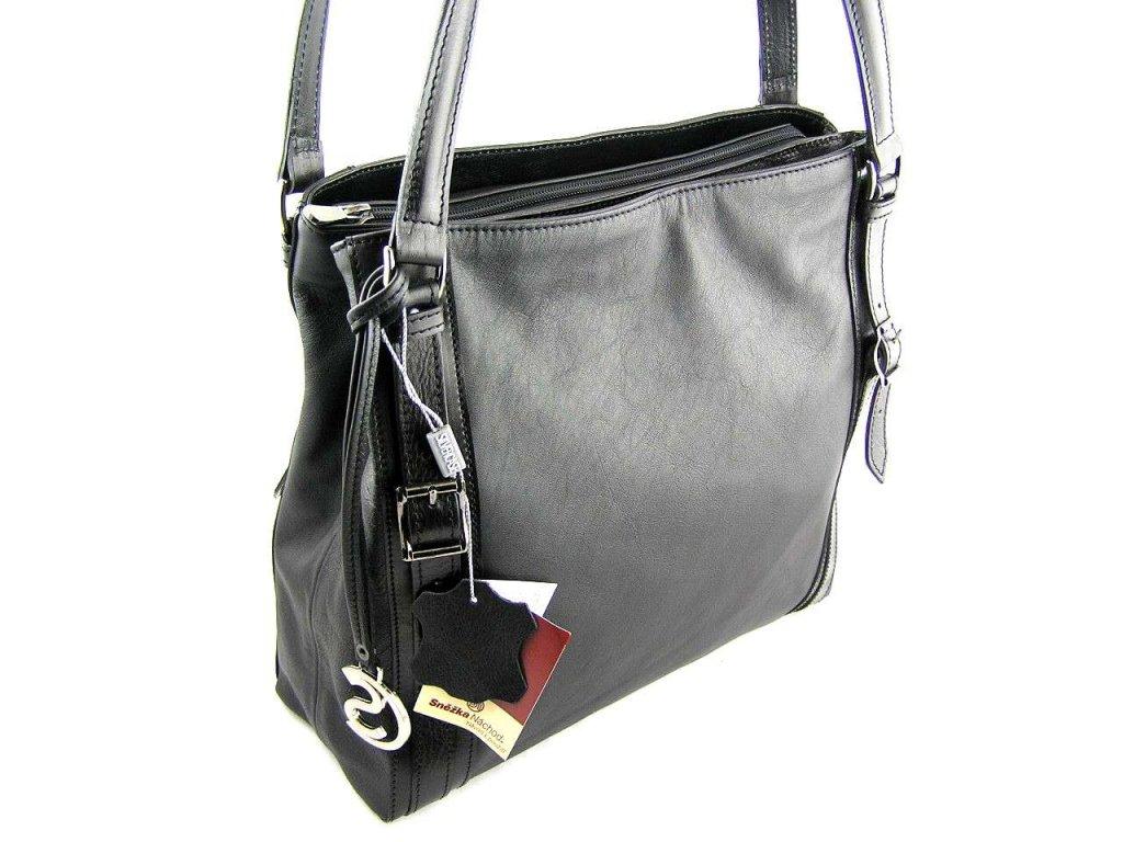 Černá kožená kabelka - Silvercase