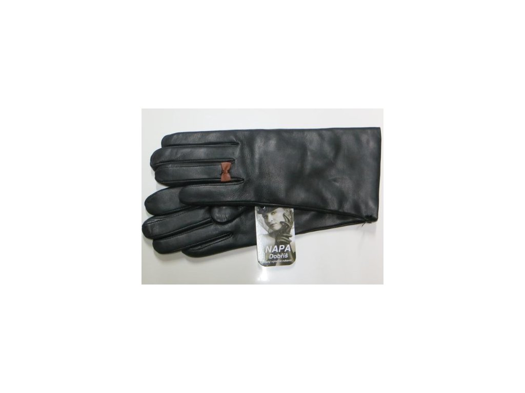 d21f0b1b0d7 Kožené dámské rukavice Napa - černé - Elegancedoruky.cz
