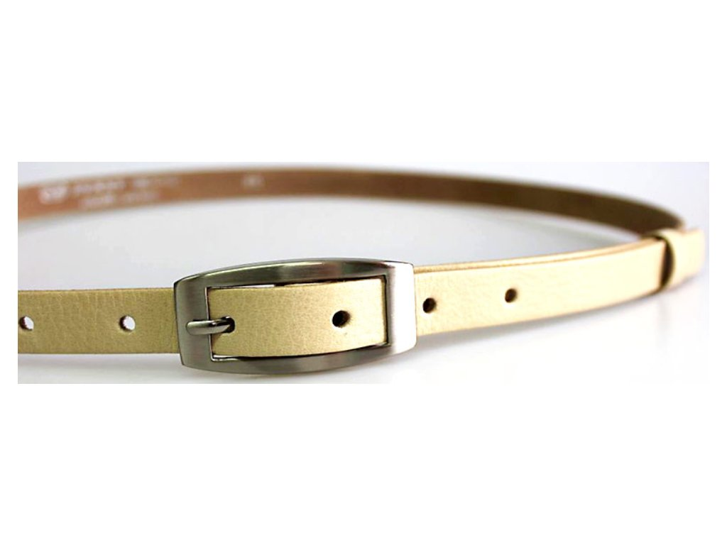 Světlý úzký dámský opasek - Penny Belts