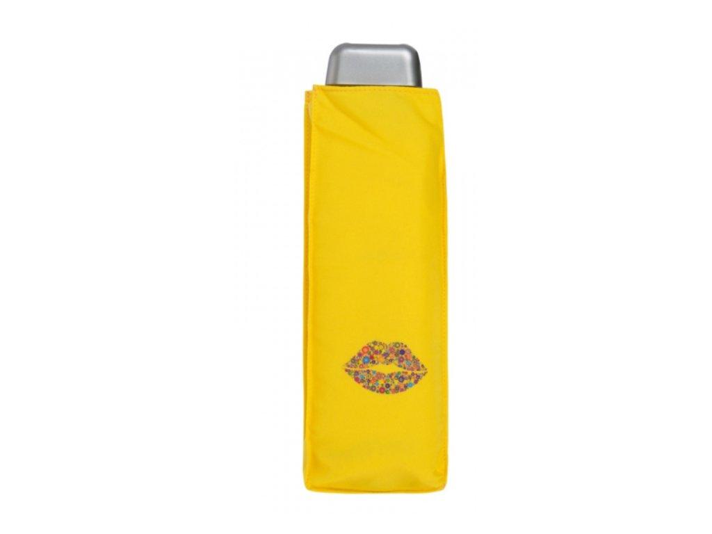 Deštní Doppler placatý carbonsteel slim kiss - žlutý